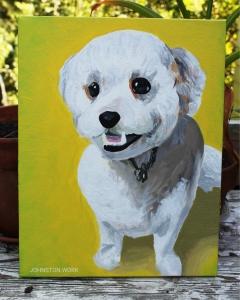 Dog Pet Portrait Painting