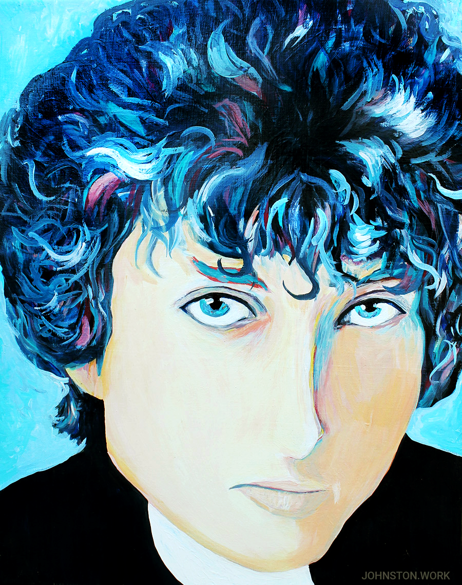 Young Bob Dylan Portrait by J.J. Johnston
