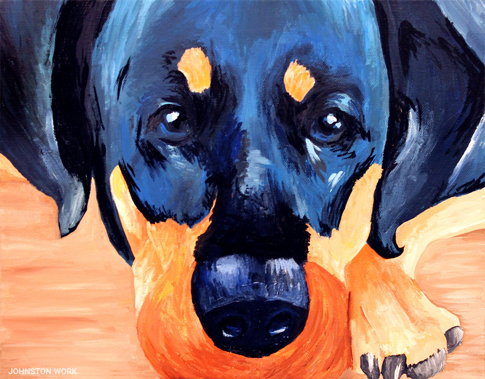 Pet Portrait of Dog by J.J. Johnston