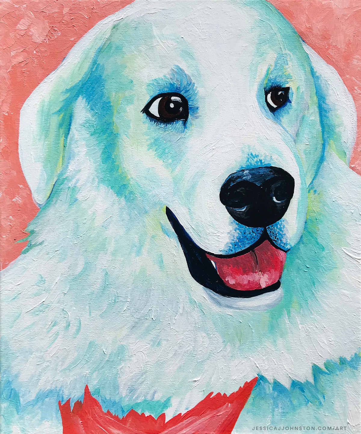 Boulder the Kuvasz by Jessica J. Johnston