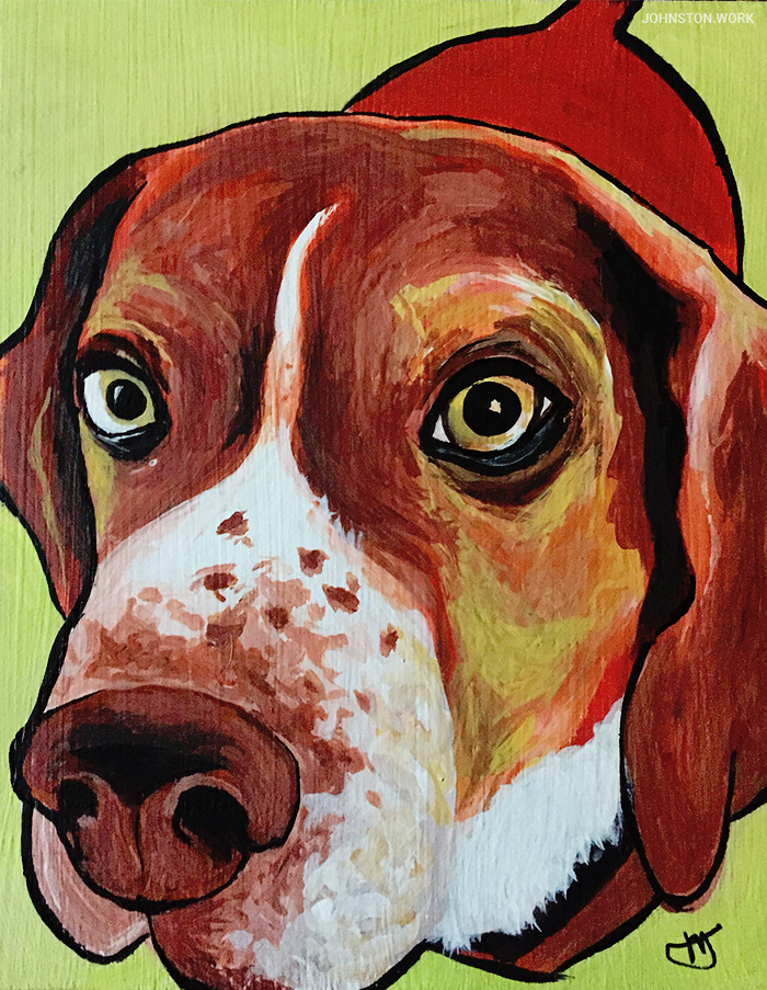 Beagle Painting by J.J. Johnston