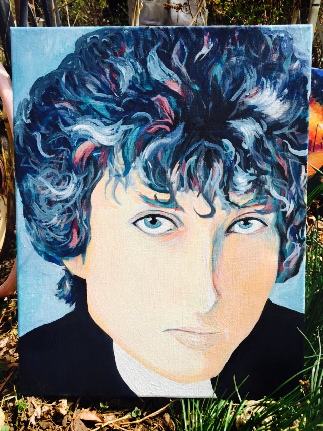 Young Bob Dylan Portrait by J.J. Johnston