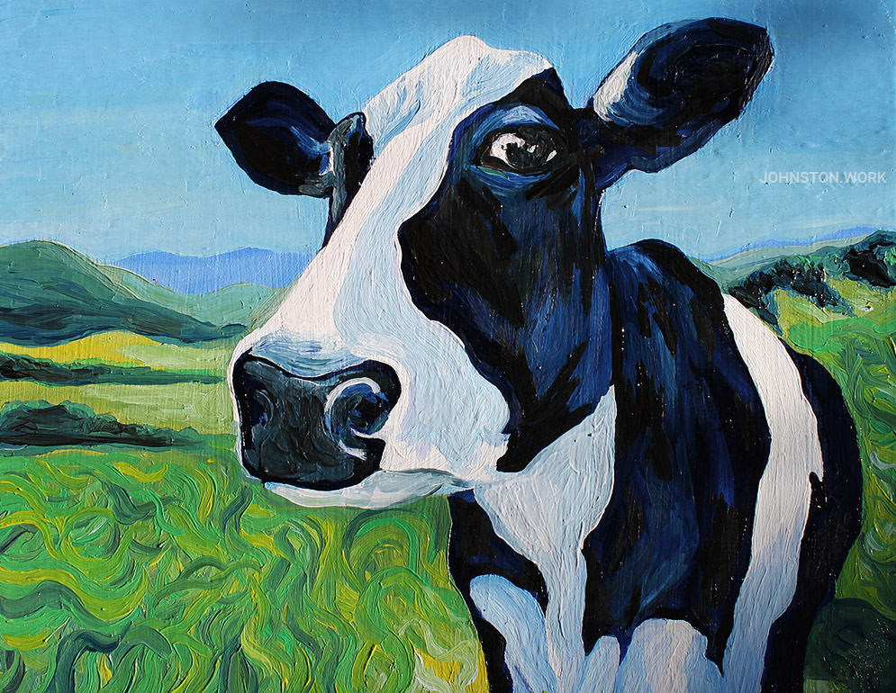The Cow Painting by J.J. Johnston