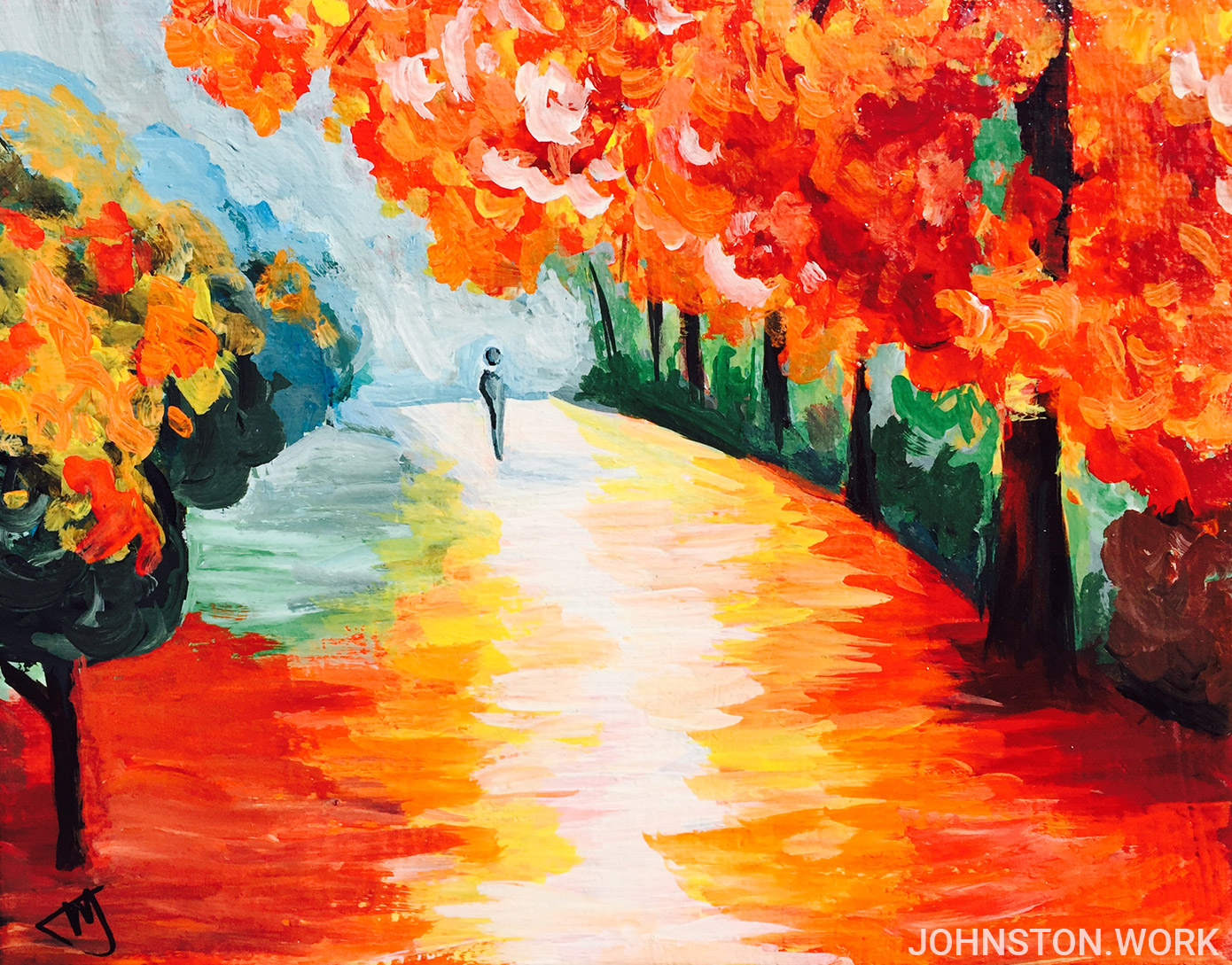 Painting Autumn Acrylic Johnston.work