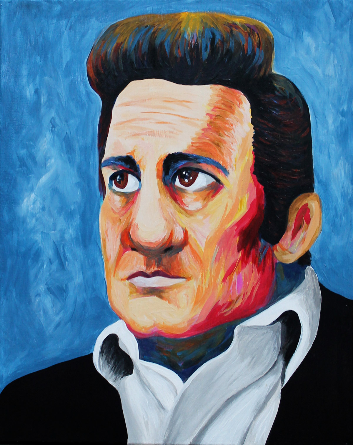 Painting Portrait of Johnny Cash Acrylic