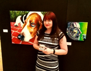 "Best in Show award-winning painting ""The Face of Love"""